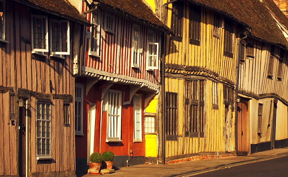 Medieval buildings in Lavenham, Suffolk, England, United Kingdom, Europe