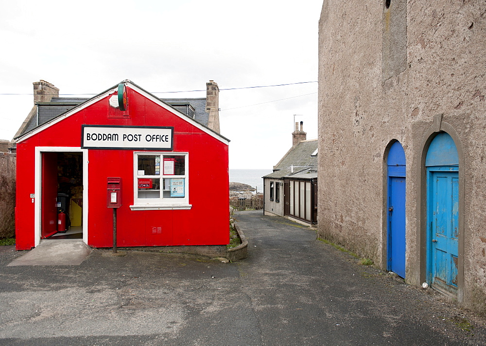 Rural post office in the small fishing village of Boddam, Scotland, United Kingdom, Europe