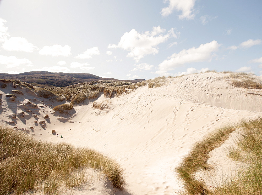 Sand dunes, Isle of Barra, Hebrides, Scotland, United Kingdom, Europe