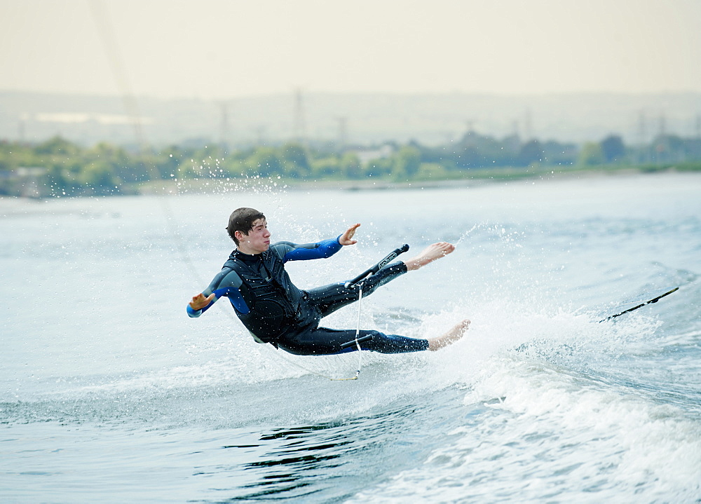 Learning to waterski, United Kingdom, Europe
