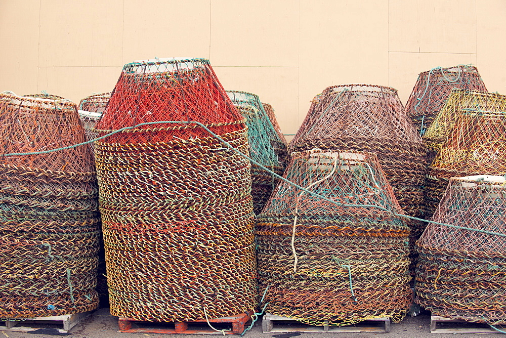 Crab pots (creels), Newfoundland, Canada, North America