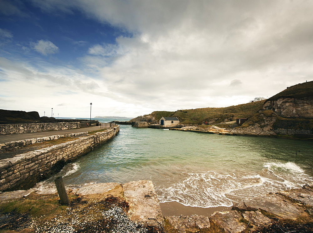 Ballintoy Harbour, where some of the Game of Thrones was filmed, Co. Antrim, Northern Ireland, United Kingdom, Europe