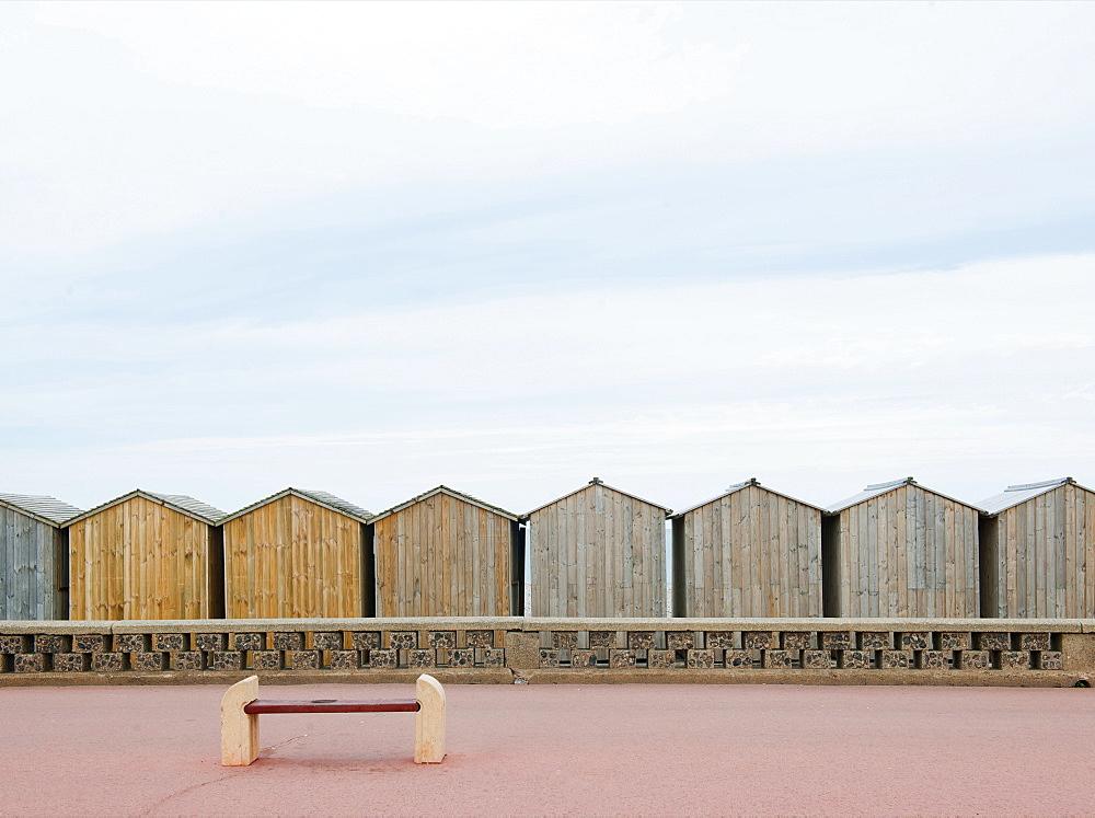 Beach huts, Calais, Nord-Pas de Calais, France, Europe