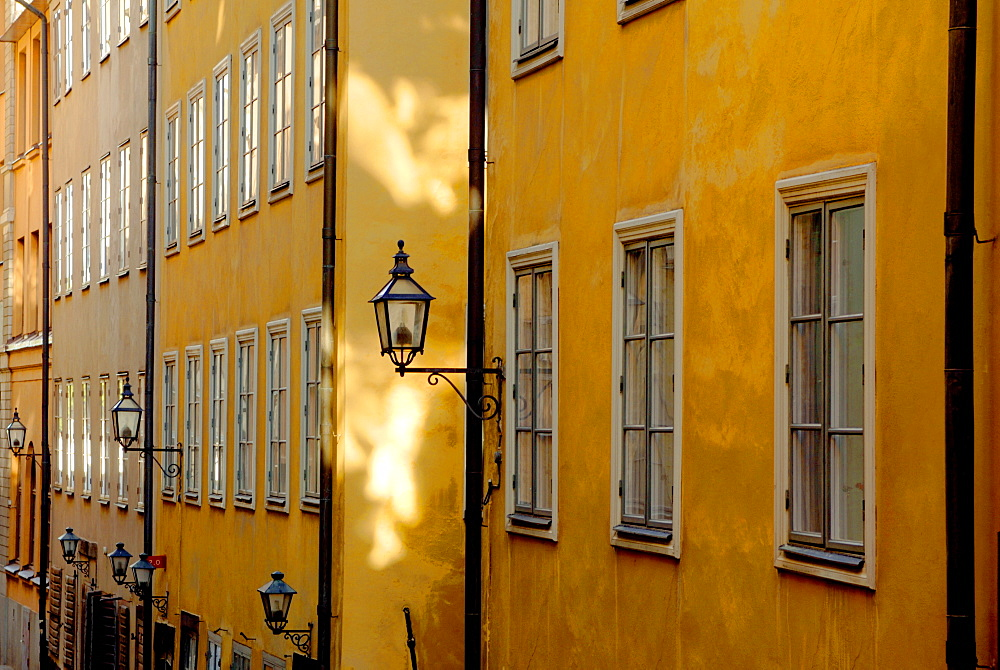 Colourful buildings, Stockholm, Sweden, Scandinavia, Europe