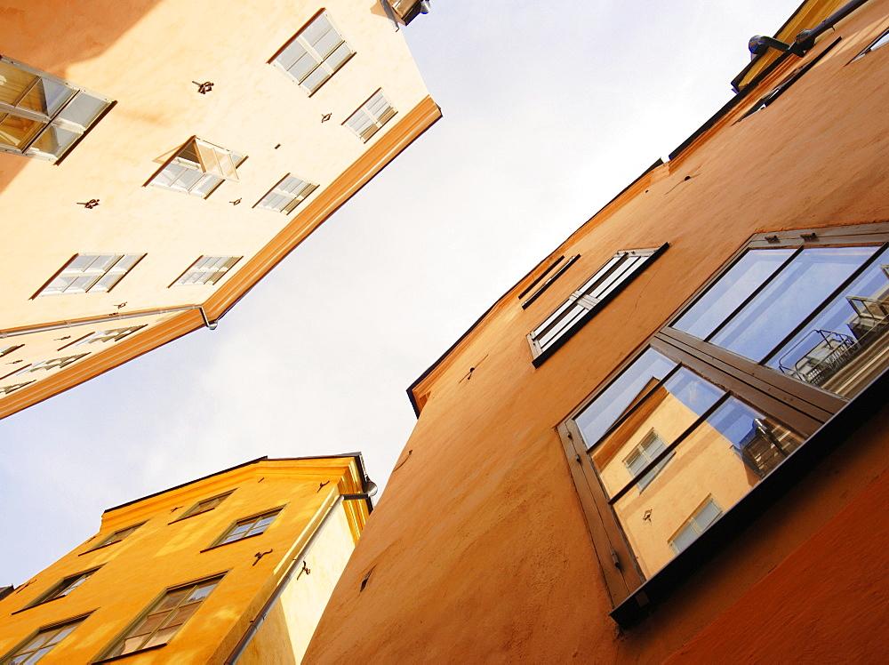 Colourful buildings, Stockholm, Sweden, Scandinavia, Europe