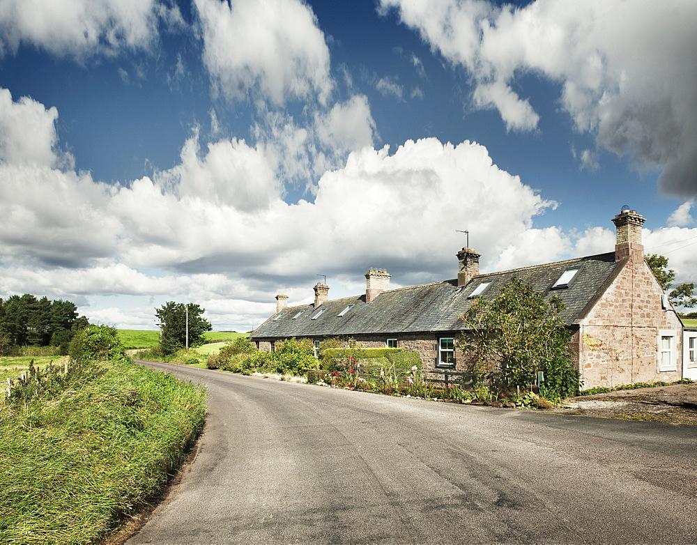 Long house in the Scottish borders, Scotland, United Kingdom, Europe