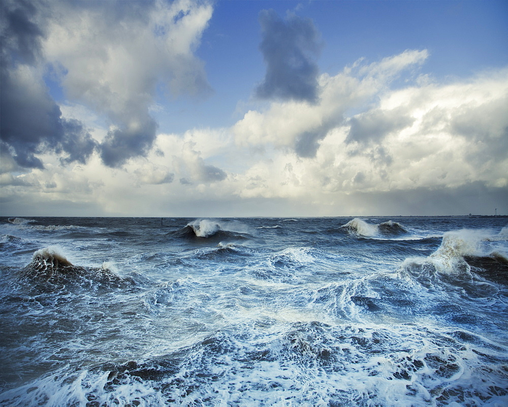 Stormy Seas, Liverpool, England, United Kingdom, Europe