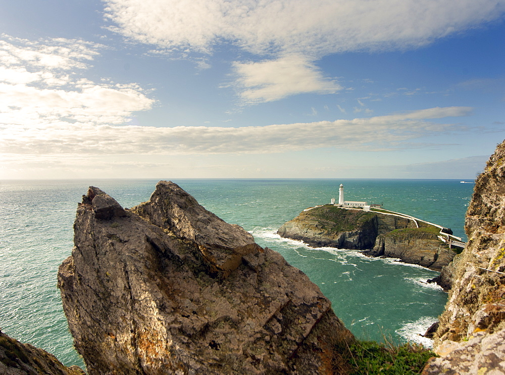 South Stack Lighthouse, Angelsey, Wales, United Kingdom, Europe - 1212-375