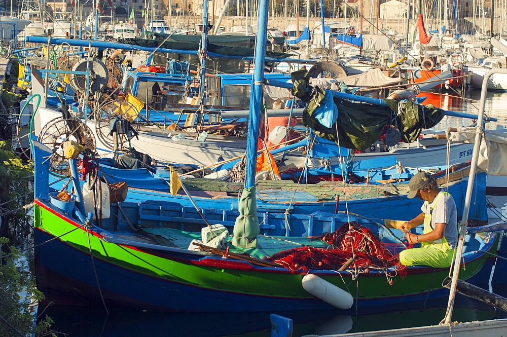 Fishing boats, Alghero, Sardinia, Europe