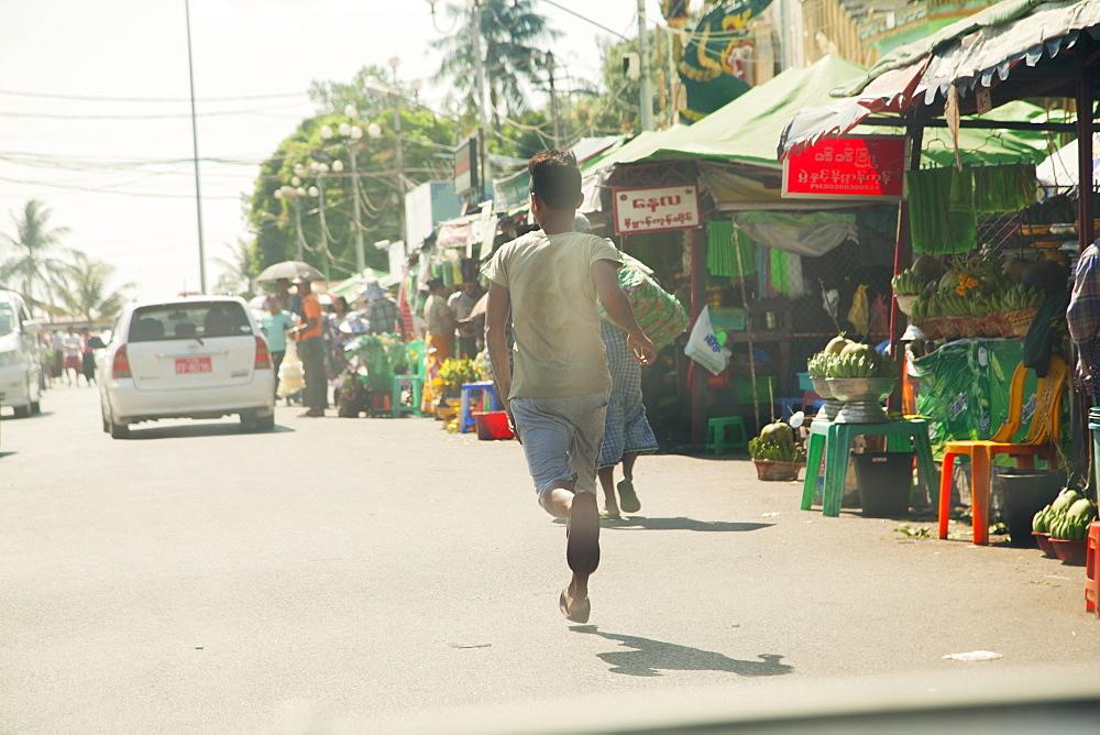 Street scene, Yangon (Rangoon), Myanmar (Burma), Asia - 1212-428