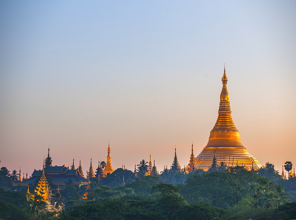 Shwedagon Pagoda, the most sacred Buddhist pagoda in Myanmar, Yangon (Rangoon), Myanmar (Burma), Asia - 1212-443