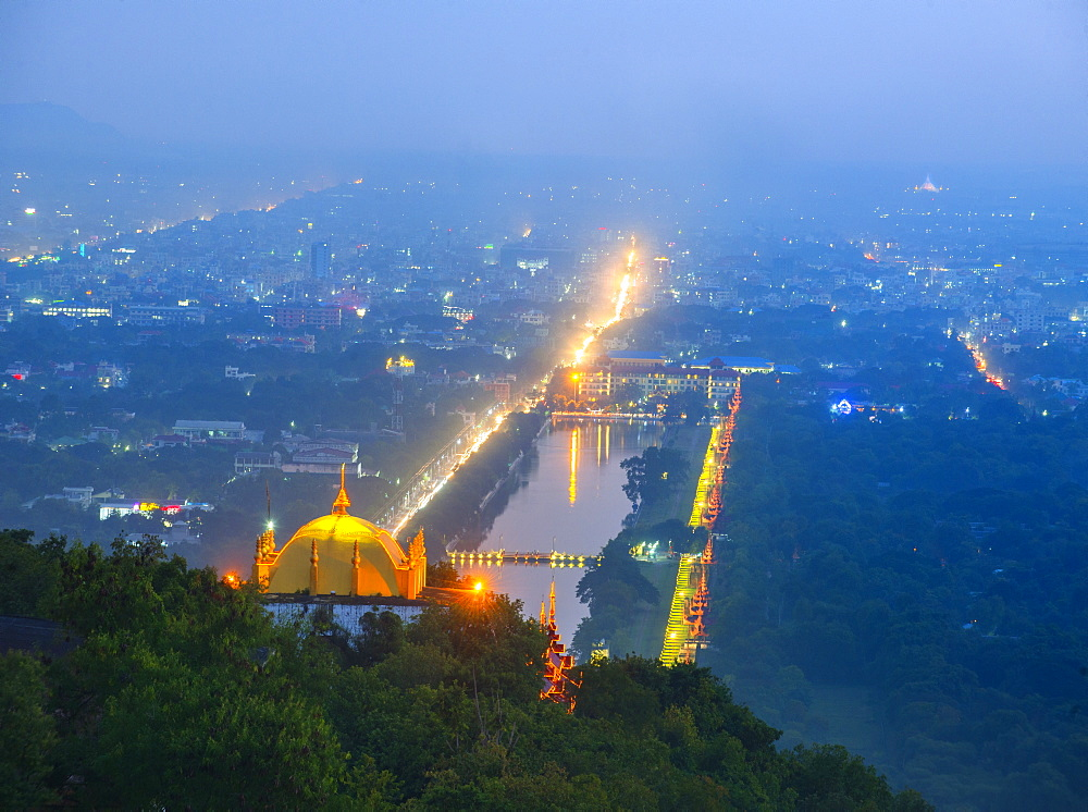 Evening view, Mandalay, Myanmar (Burma), Asia