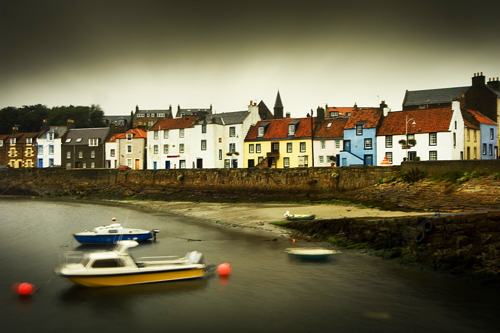 St. Monans Harbour, East Neuk of Fife, in a storm, Scotland, United Kingdom, Europe