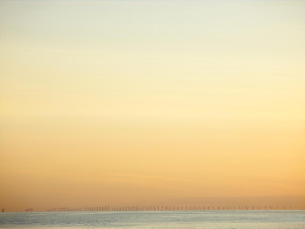 Hoyle Bank offshore windfarm, Wirral, Cheshire, England, United Kingdom, Europe