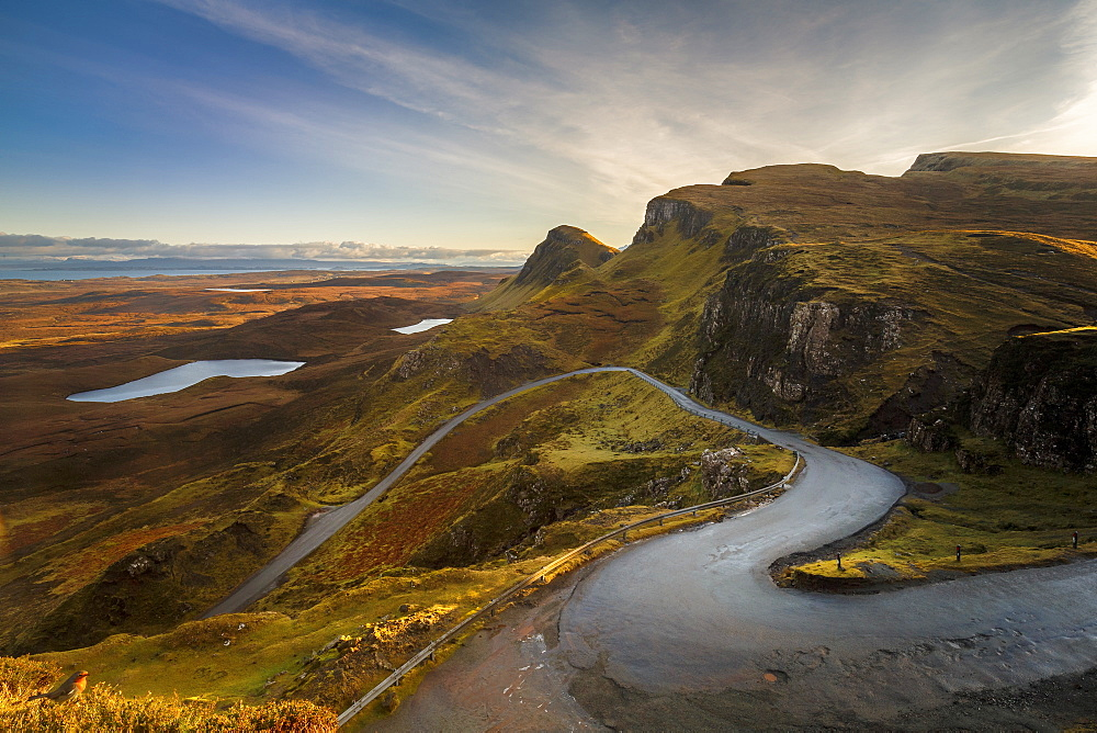 The Quiraing Pass in the Trotternish Range on the Isle of Skye, Inner Hebrides, Scotland, United Kingdom, Europe - 1213-137