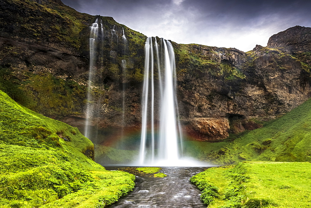 Seljalandsfoss waterfall, South Region, Iceland, Polar Regions