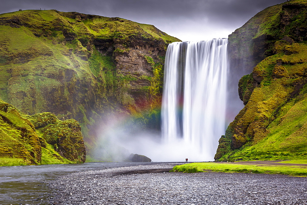 Skogafoss waterfall situated on the Skoga River in the South Region, Iceland, Polar Regions - 1213-63