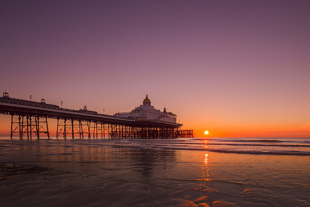 Sunrise at Eastbourne Pier, Eastbourne, East Sussex, England, United Kingdom, Europe - 1213-76