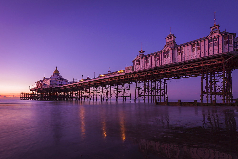 Sunrise at Eastbourne Pier, Eastbourne, East Sussex, England, United Kingdom, Europe - 1213-77