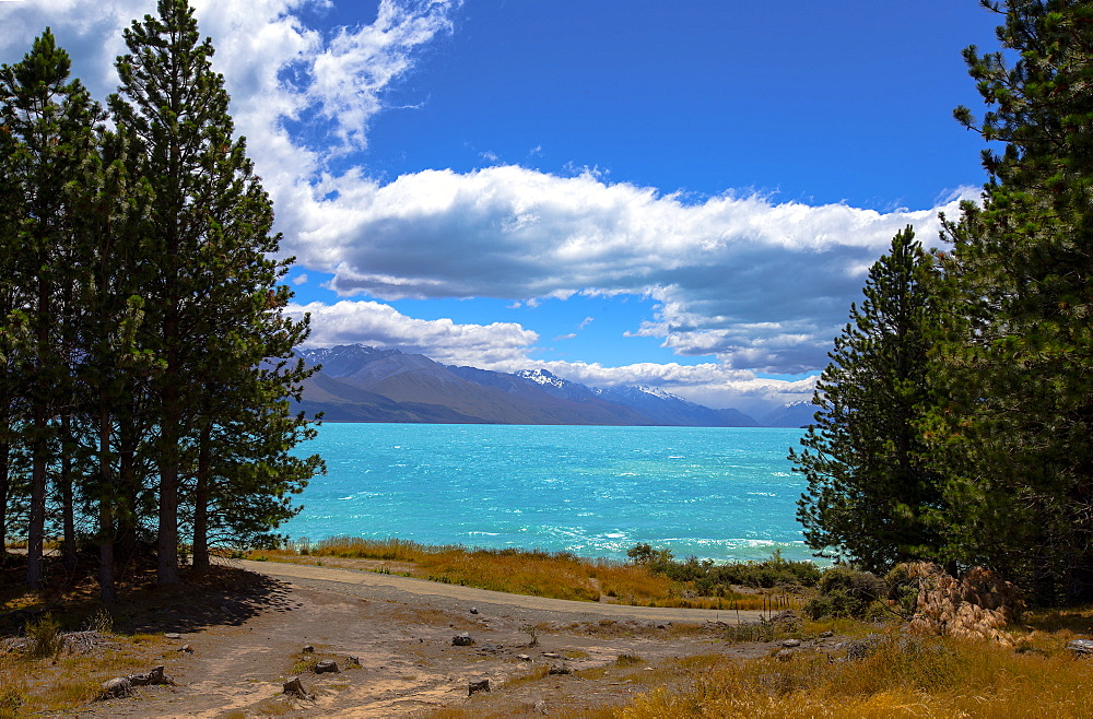 Lake Pukaki, Mackenzie Basin, South Island, New Zealand.