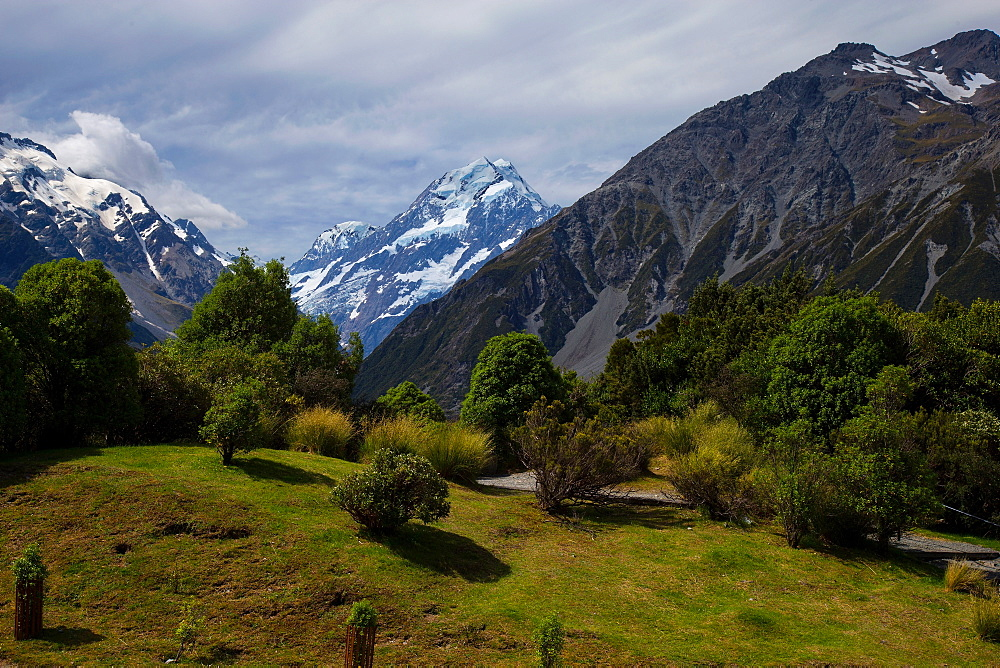 Aoraki/Mount Cook National Park, UNESCO World Heritage Site, Southern Alps, Canterbury, South Island, New Zealand, Pacific - 1214-2