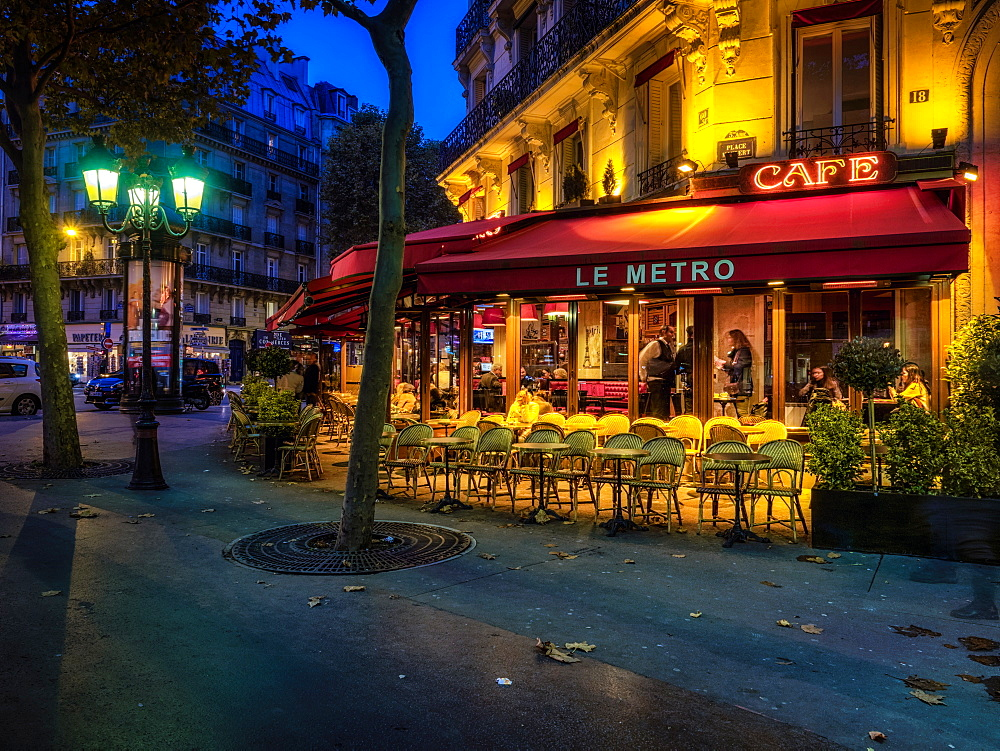 Parisian cafe, Paris, France, Europe - 1215-11