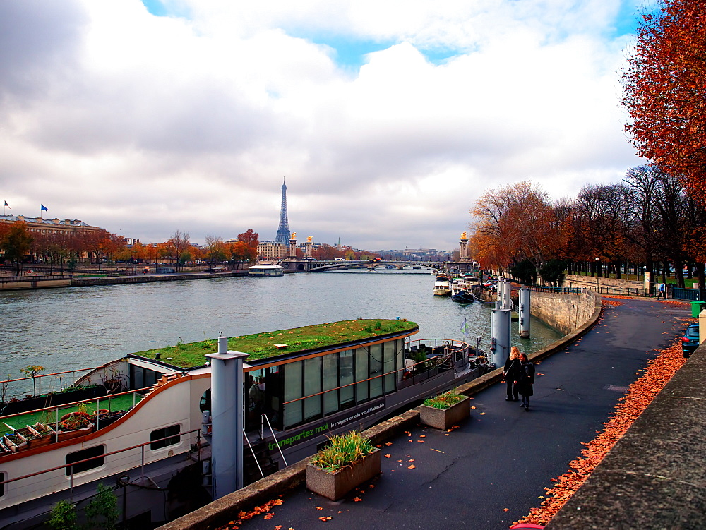 River Seine and Eiffel Tower, Paris, France, Europe - 1215-24