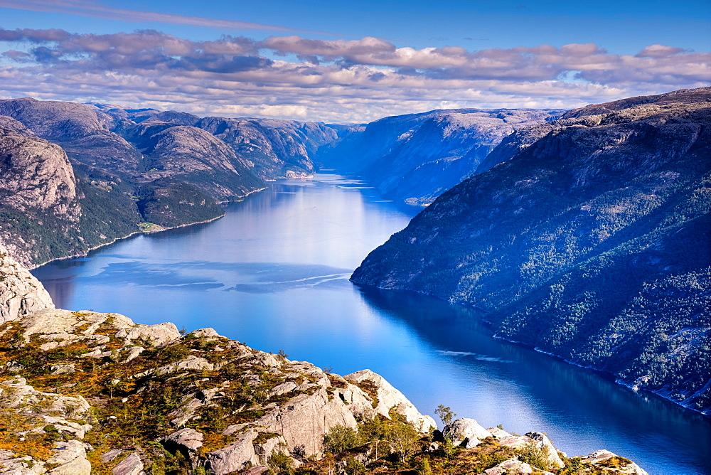 Pulpit Rock, Lysefjord view, Stavanger, Norway, Scandinavia, Europe - 1215-34