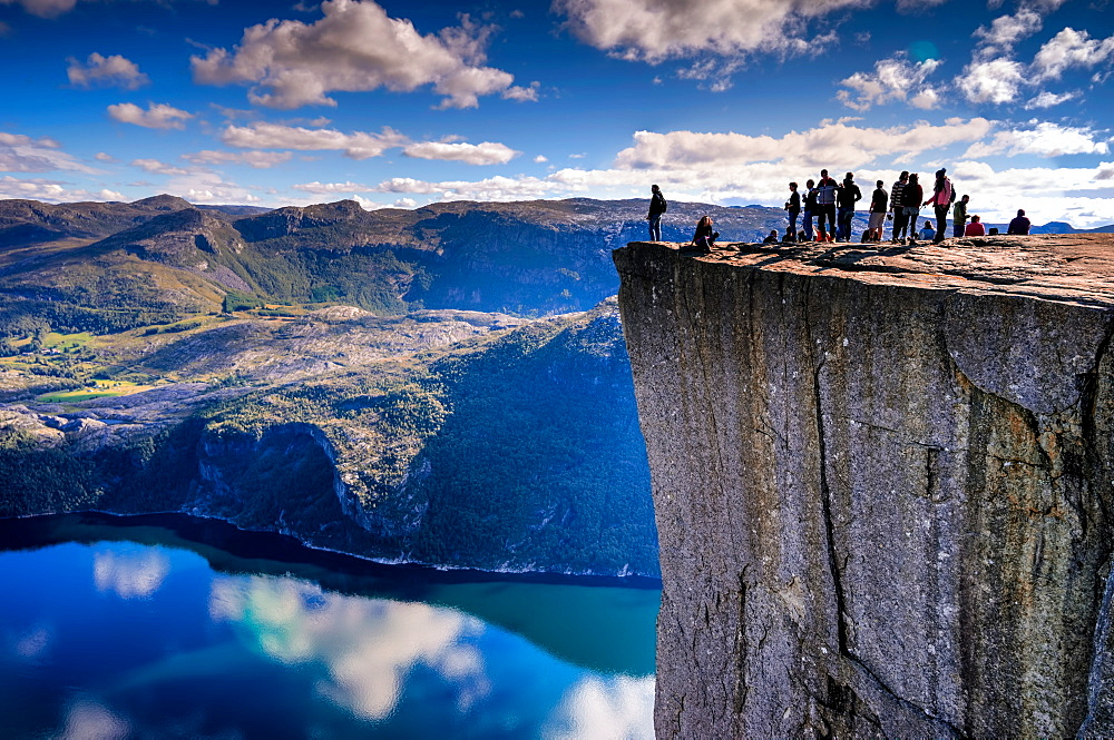Pulpit Rock, Lysefjord view, Stavanger, Norway, Scandinavia, Europe - 1215-35