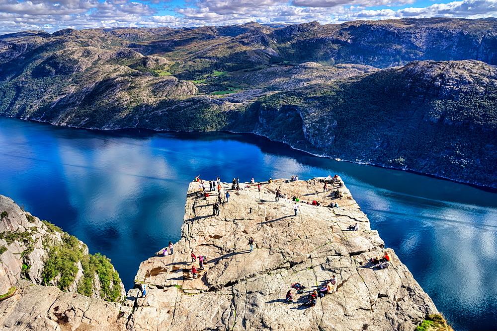 Pulpit Rock, Lysefjord view, Stavanger, Norway, Scandinavia, Europe - 1215-37