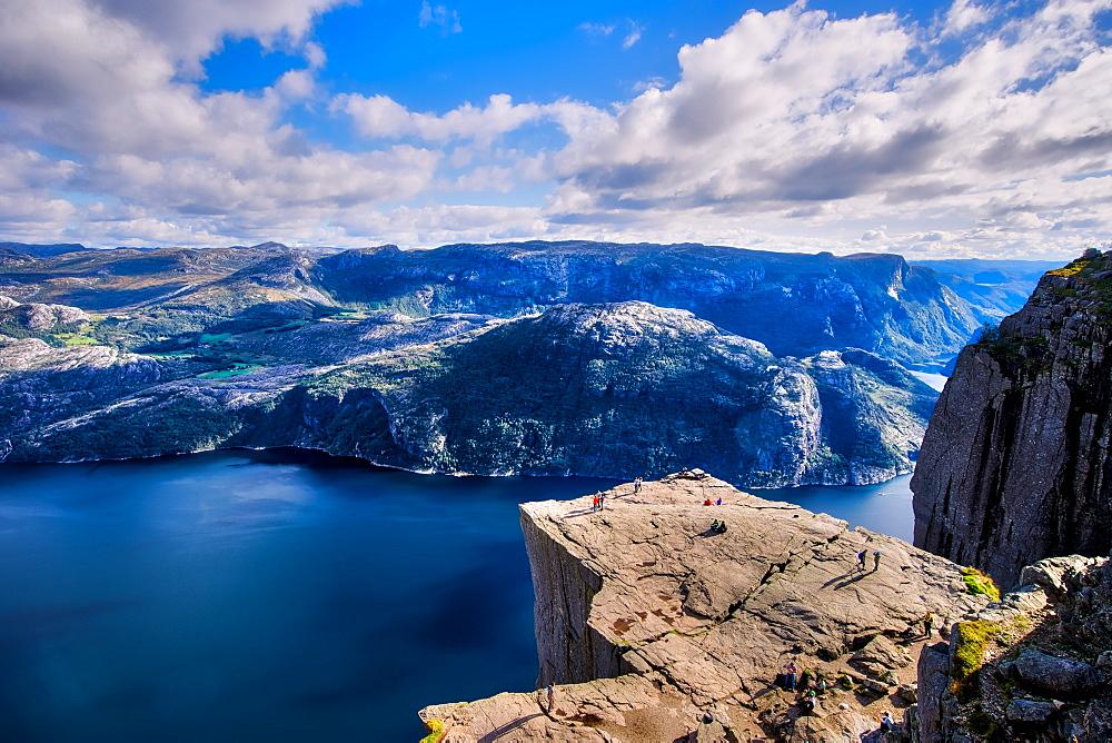 Pulpit Rock, Lysefjord view, Stavanger, Norway, Scandinavia, Europe - 1215-38