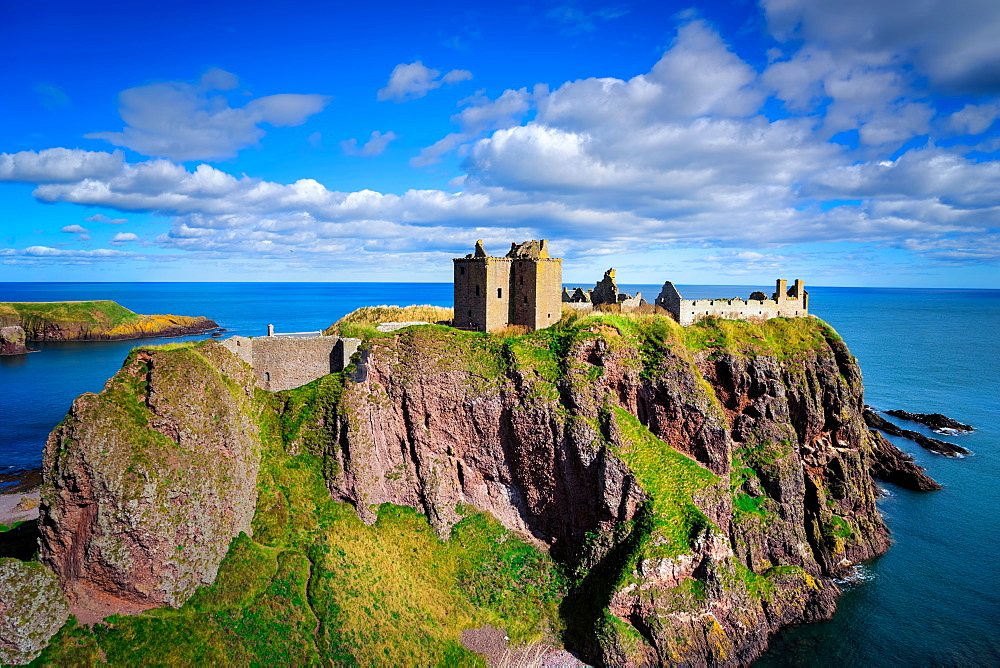 Dunnottar Castle outside of Stonehaven, Aberdeenshire, Scotland, United Kingdom, Europe - 1215-53