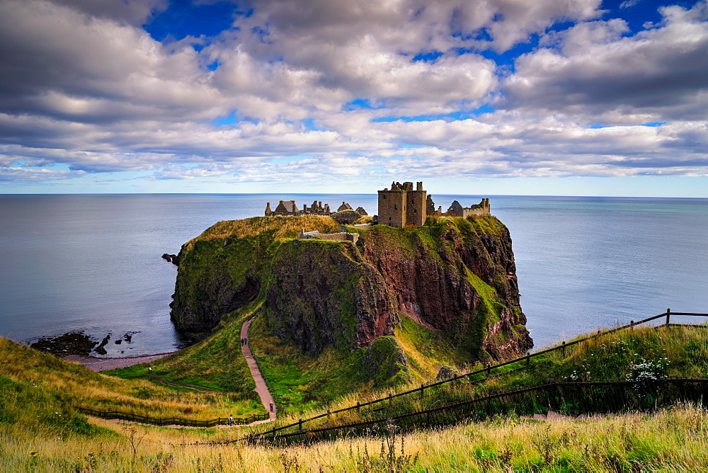 Dunnottar Castle outside of Stonehaven, Aberdeenshire, Scotland, United Kingdom, Europe - 1215-54