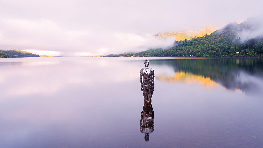 The Mirror Man, Loch Earn, Highlands, Scotland, United Kingdom, Europe