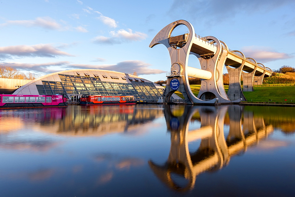 The Falkirk Wheel, Stirlingshire, Scotland, United Kingdom, Europe