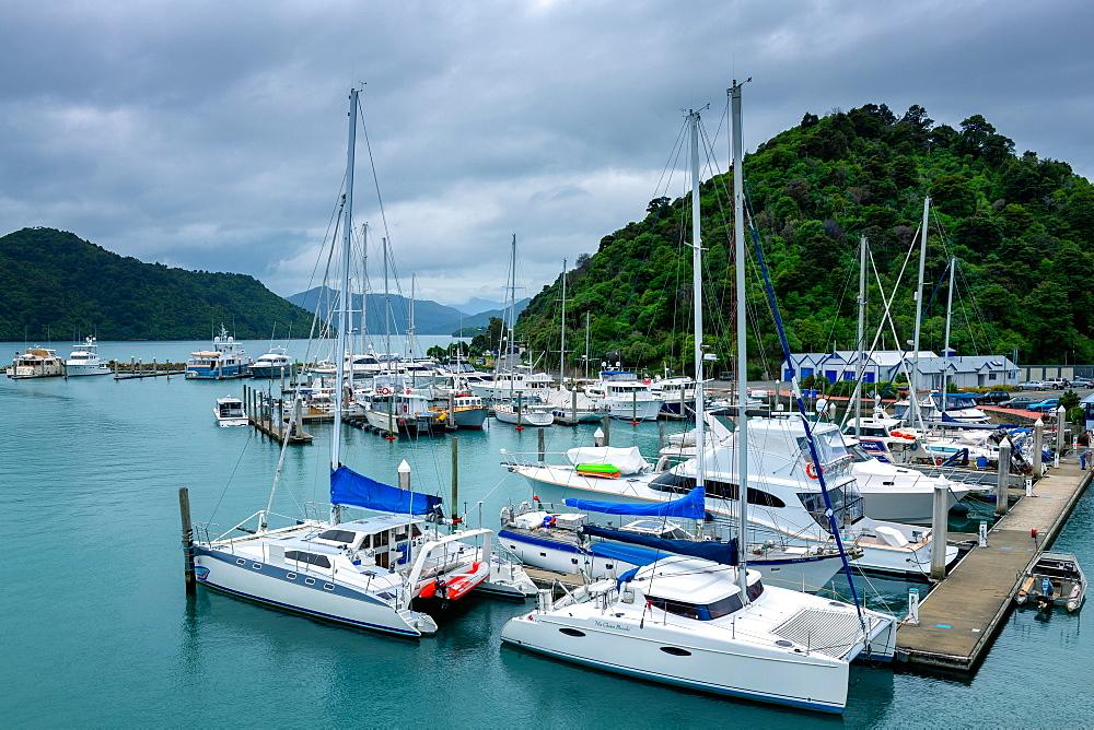 Picton Harbour, Picton, Marlborough Region, South Island, New Zealand, Pacific