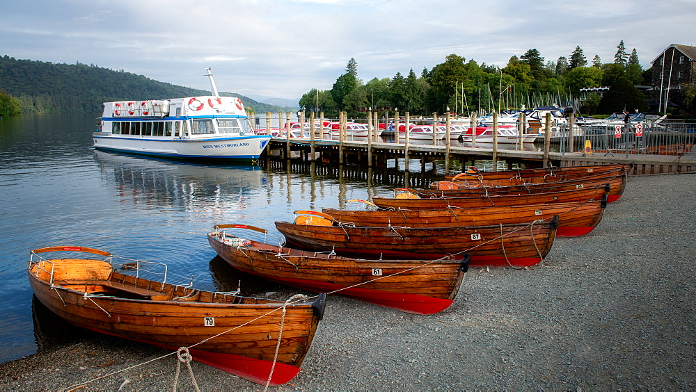 Rowing boats of Lake Windermere, The Lake District, Cumbria, England, United Kingdom, Europe - 1216-349
