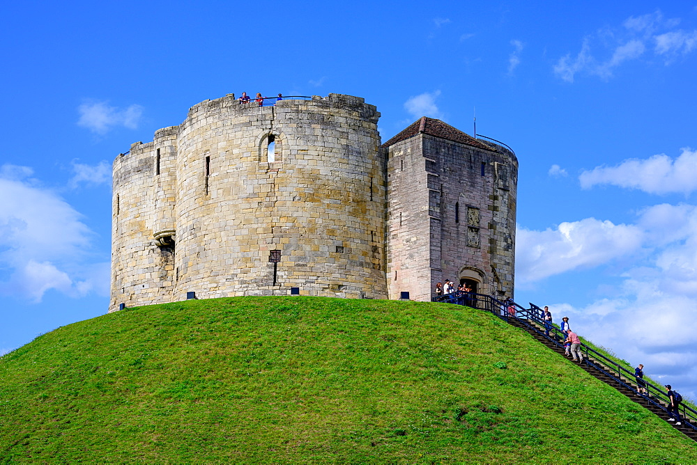 Clifford's Tower, York, Yorkshire, England, United Kingdom, Europe - 1216-516