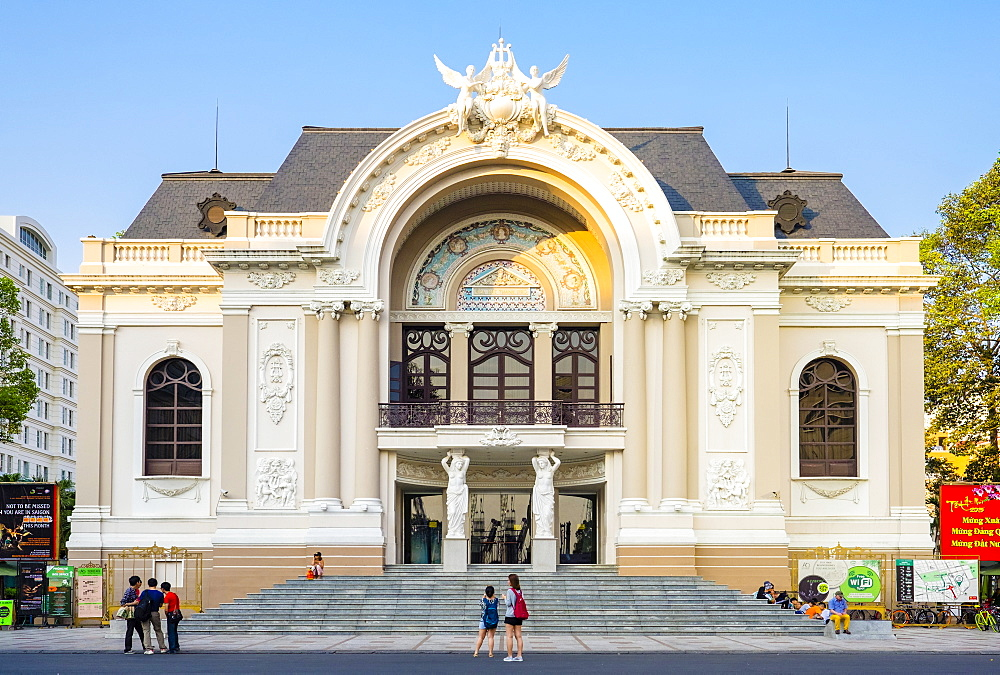 Saigon Opera House (Municipal Theatre), Ho Chi Minh City (Saigon), Vietnam, Indochina, Southeast Asia, Asia