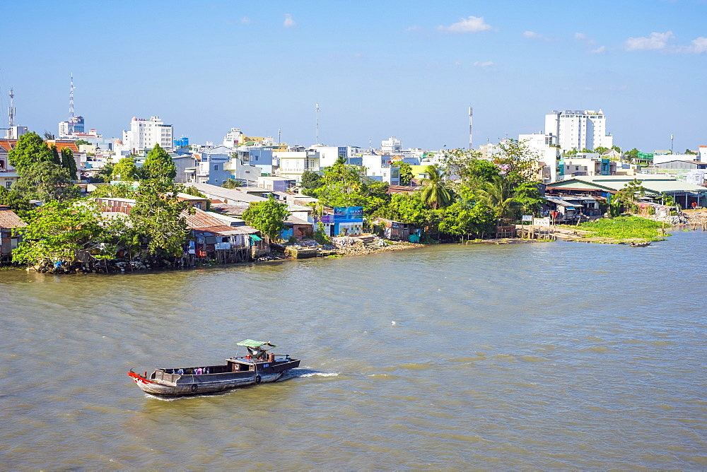 The city of Can Tho on the Can Tho river, a branch of the Mekong River, Mekong Delta, Vietnam, Indochina, Southeast Asia, Asia