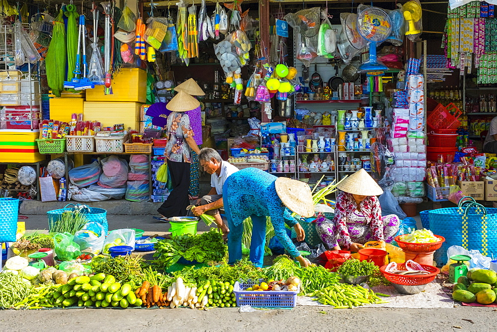 A market stall at An Binh market, Can Tho, Mekong Delta, Vietnam, Indochina, Southeast Asia, Asia