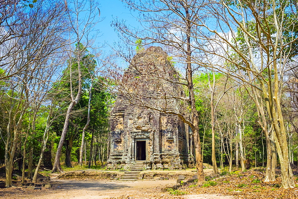 Pre-Angkorian temple ruins at Sambor Prei Kuk, Kampong Thom Province, Cambodia, Indochina, Southeast Asia, Asia