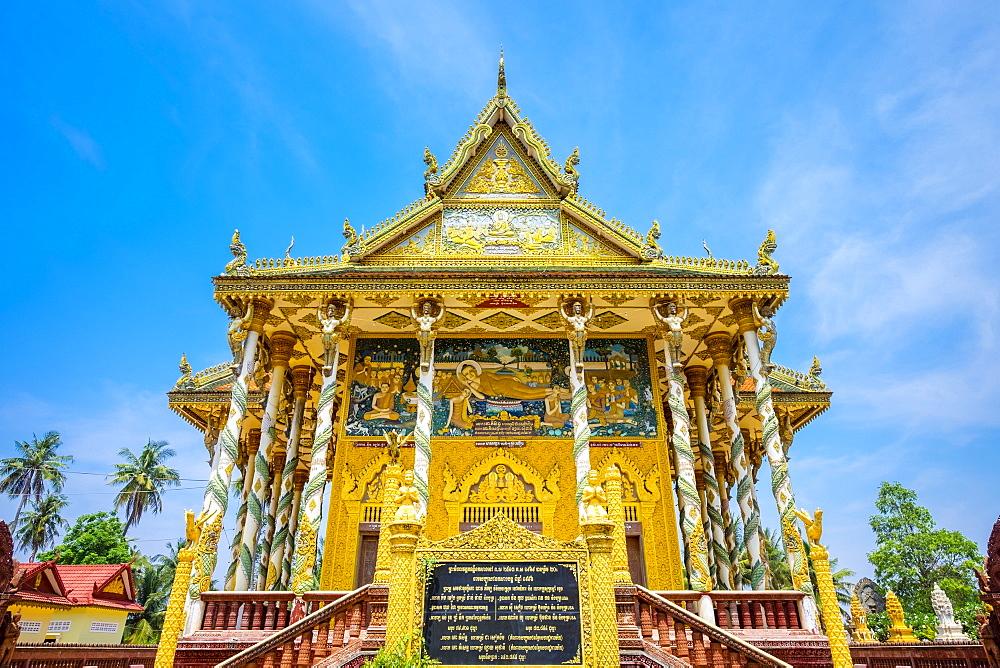 Kan Doeng Pagoda (Wat Kan Doeng), Battambang, Cambodia, Indochina, Southeast Asia, Asia