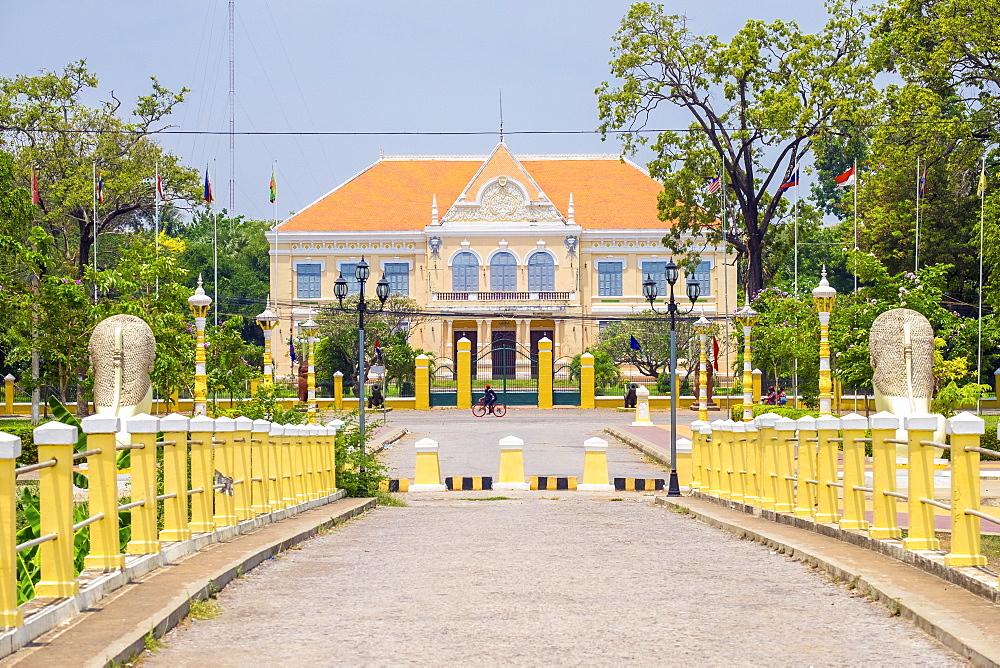 Battambang Provincial Hall (Governor's Residence), Battambang, Cambodia, Indochina, Southeast Asia,Asia