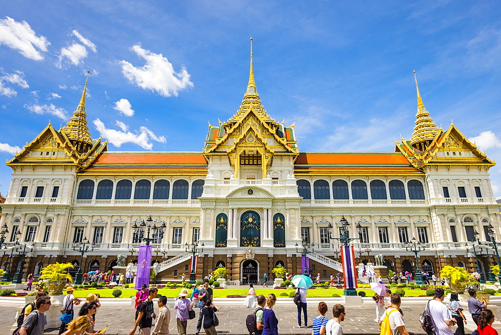 Phra Thinang Chakri Maha Prasat throne hall, Grand Palace complex, Bangkok, Thailand, Southeast Asia, Asia