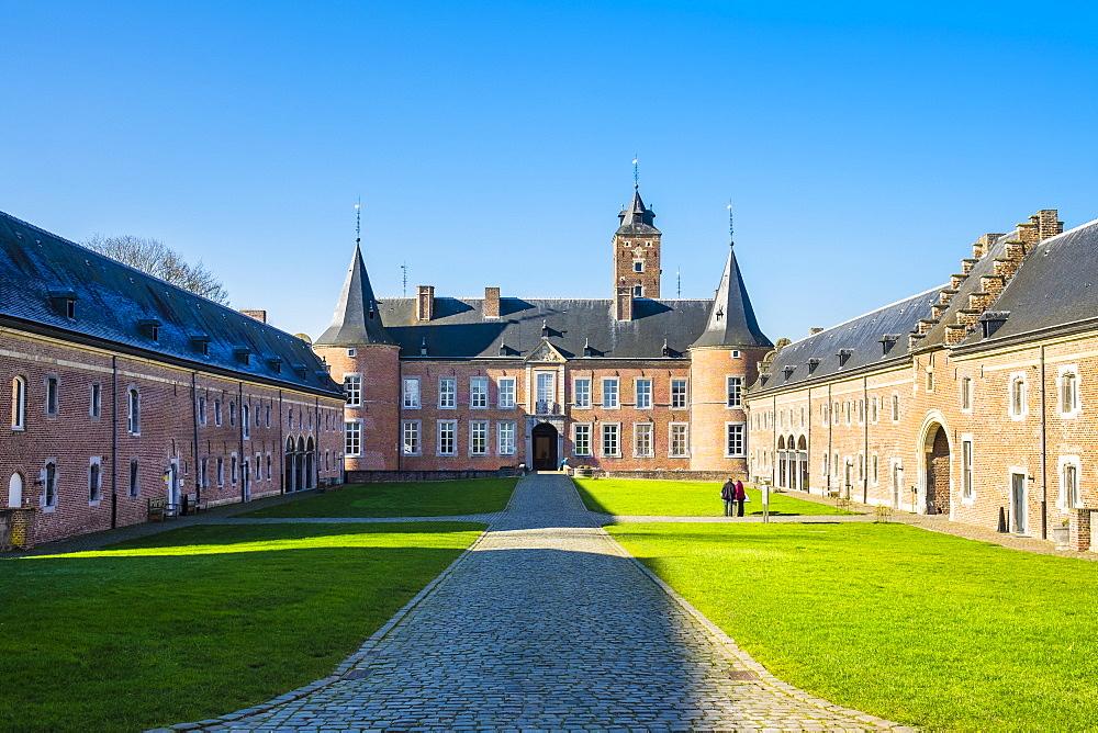 Kasteel Alden Biesen castle, Bilzen, Limburg, Vlaanderen (Flanders), Belgium, Europe