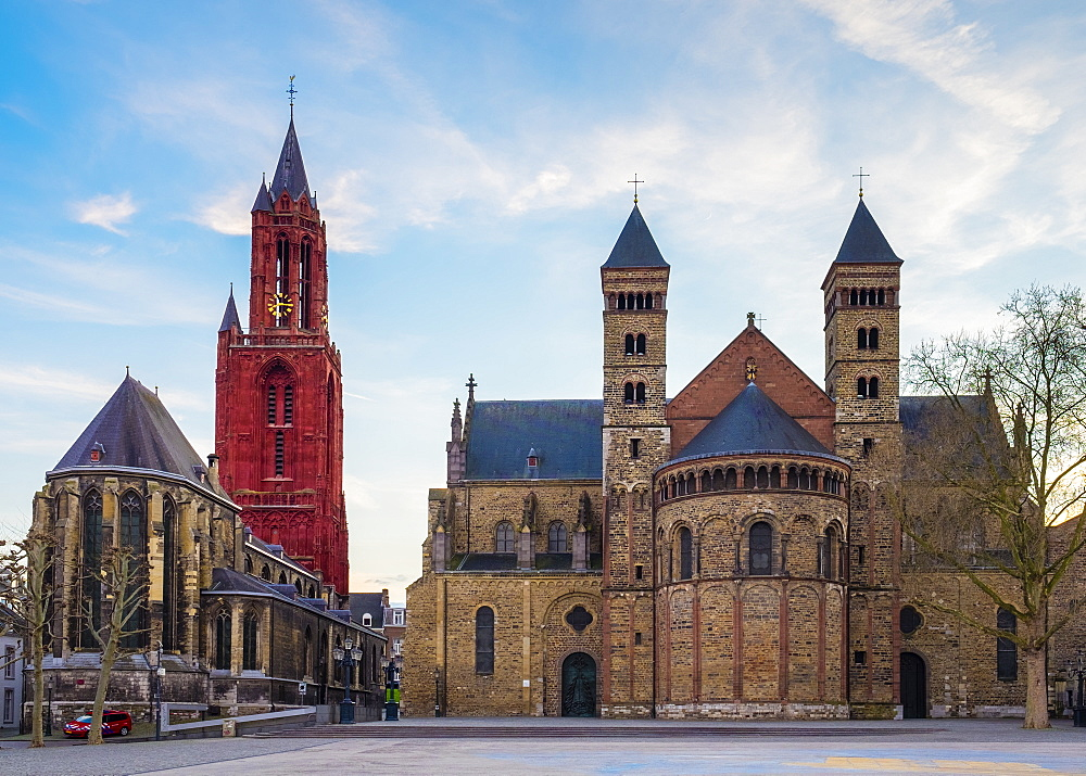 Sint-Janskerk (St. John's Church) and Sint Servaasbasiliek (Basilica of Saint Servatius), Maastricht, Limburg, Netherlands, Europe