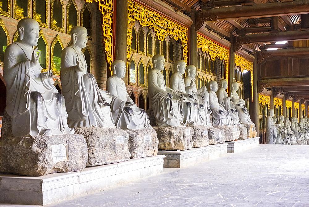 Arhat statues at Bai Dinh Temple (Chua Bai Dinh), Gia Vien District, Ninh Binh Province, Vietnam, Indochina, Southeast Asia, Asia