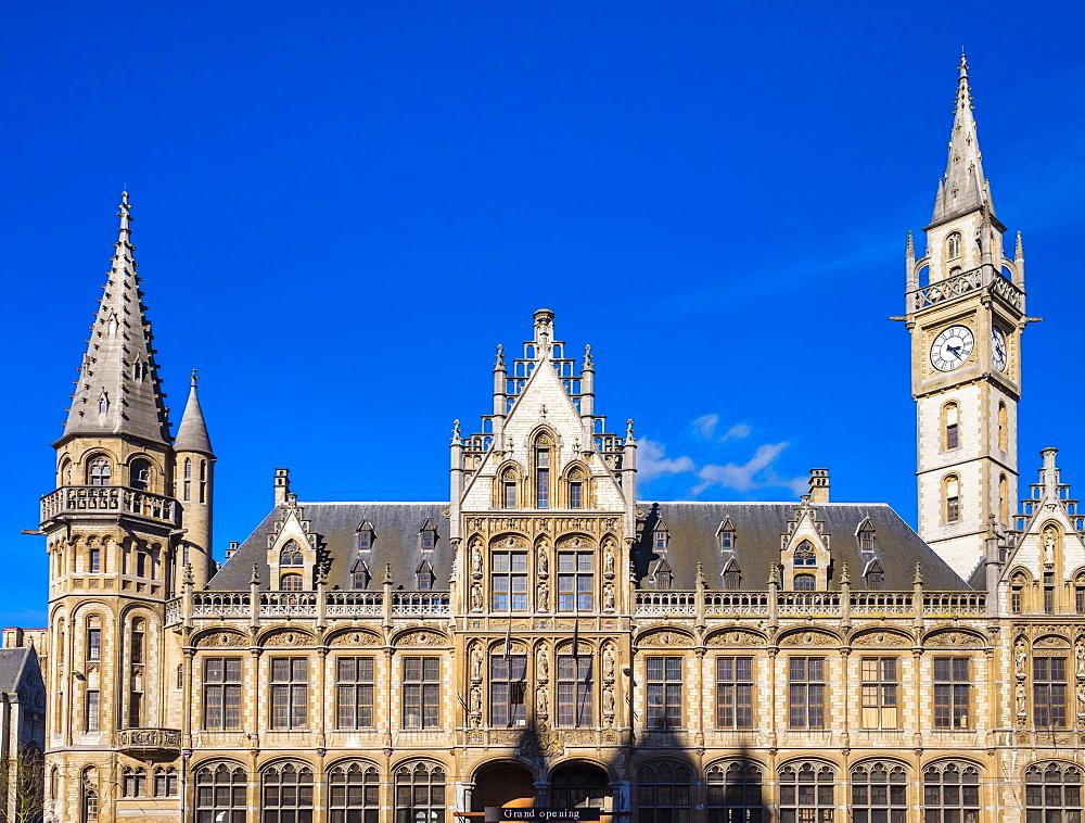 Former Post Office building on the Korenmarkt (Corn Market), Ghent, Flanders, Belgium, Europe - 1217-321