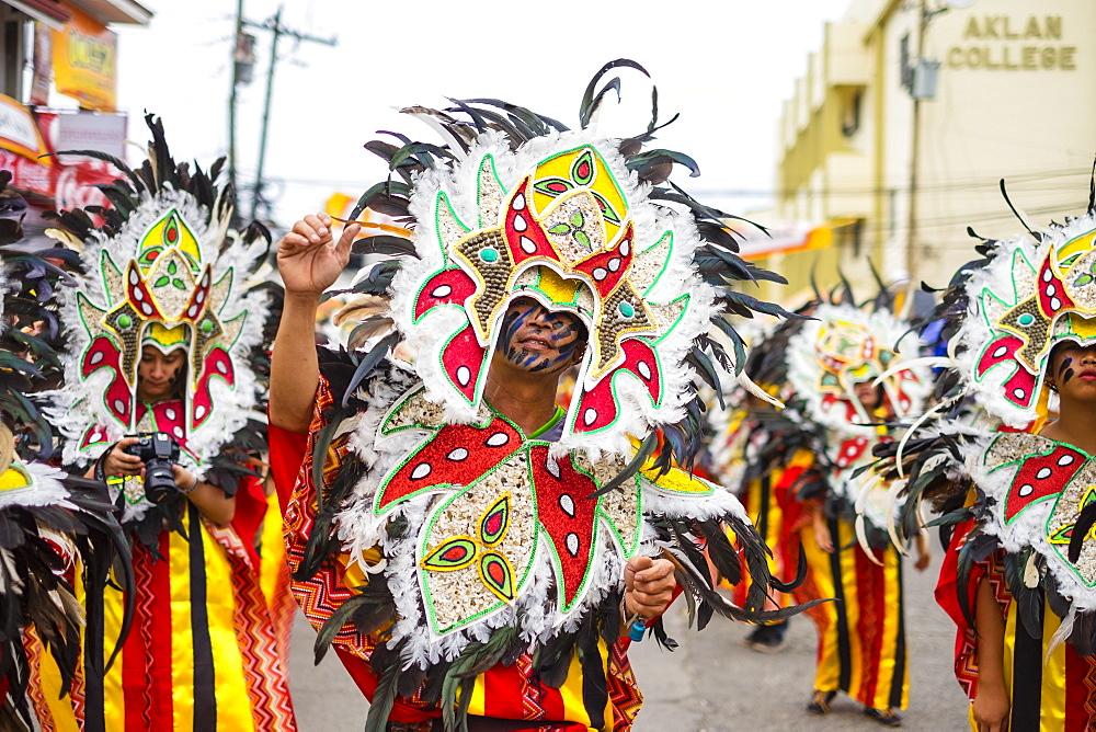 Ati-Atihan festival particiapants during the street parade, Kalibo, Aklan, Western Visayas, Philippines, Southeast Asia, Asia